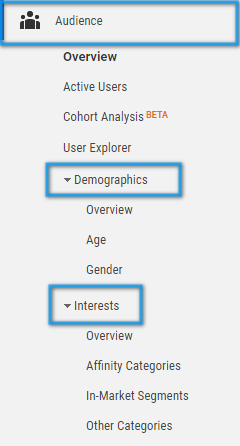 web analytics user interests