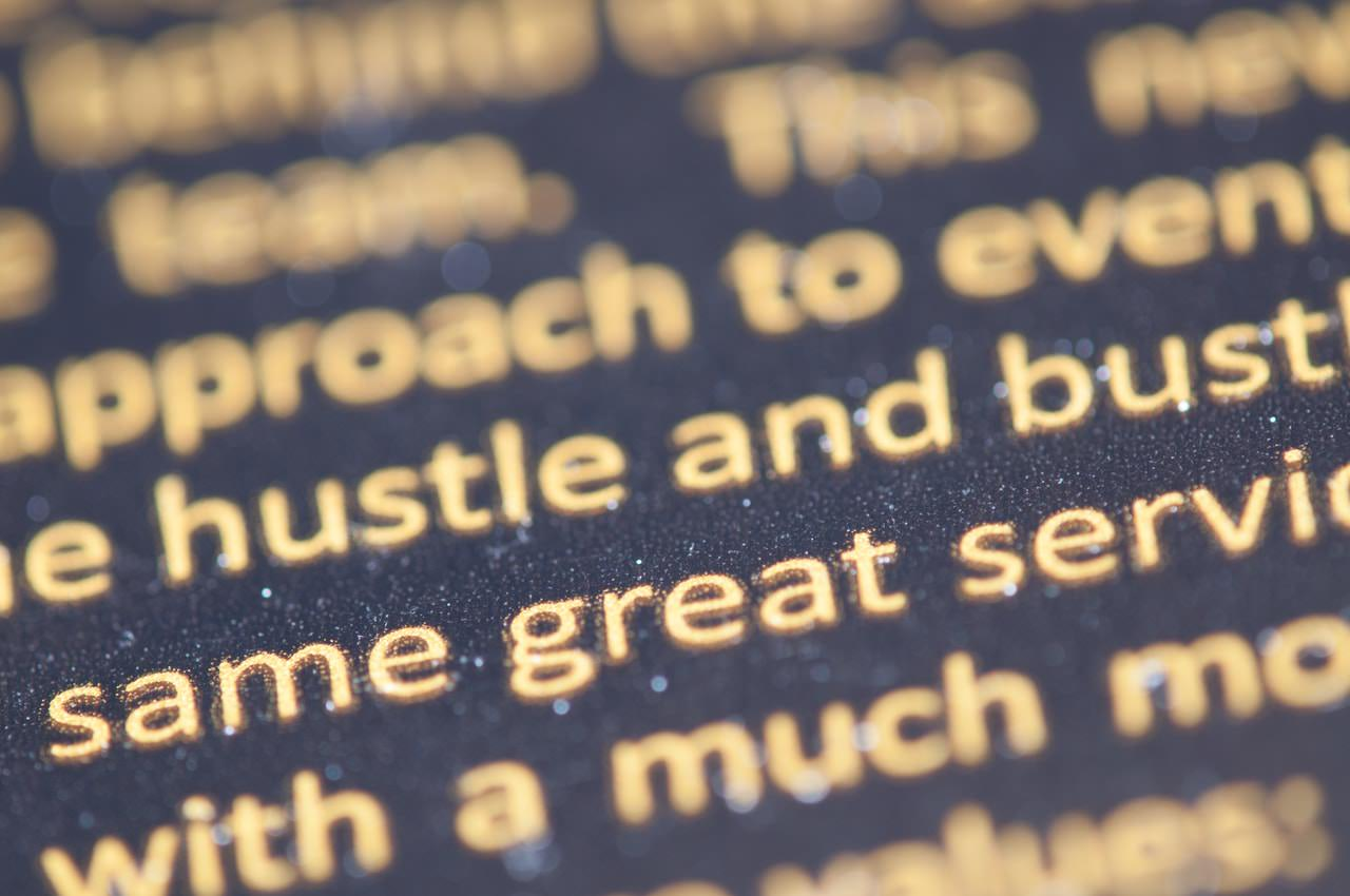 SEO myth #1: keyword stuffing is all you need. Close up of text representing this concept