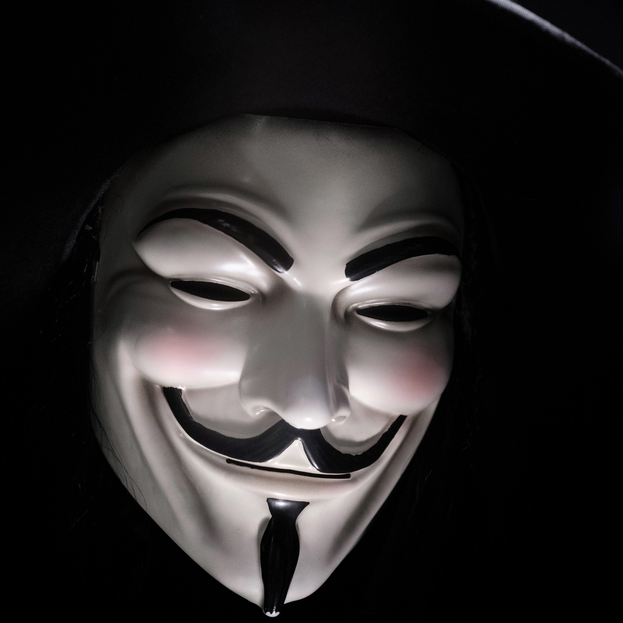 Picture of an anonymous hacker