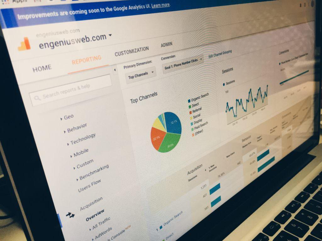 website analytics on a laptop