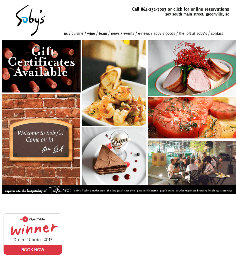 soby's old homepage before it was redesigned by engenius