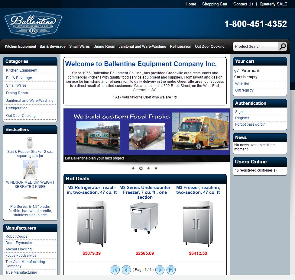 ballentine-homepage-before