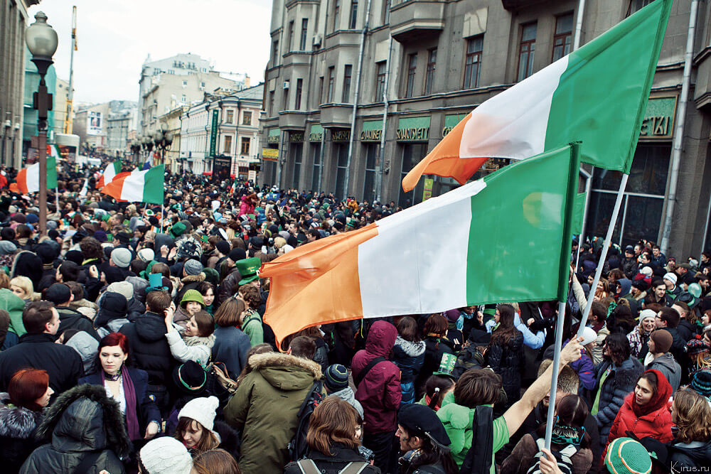 Image of a St. Patrick's Day Parade