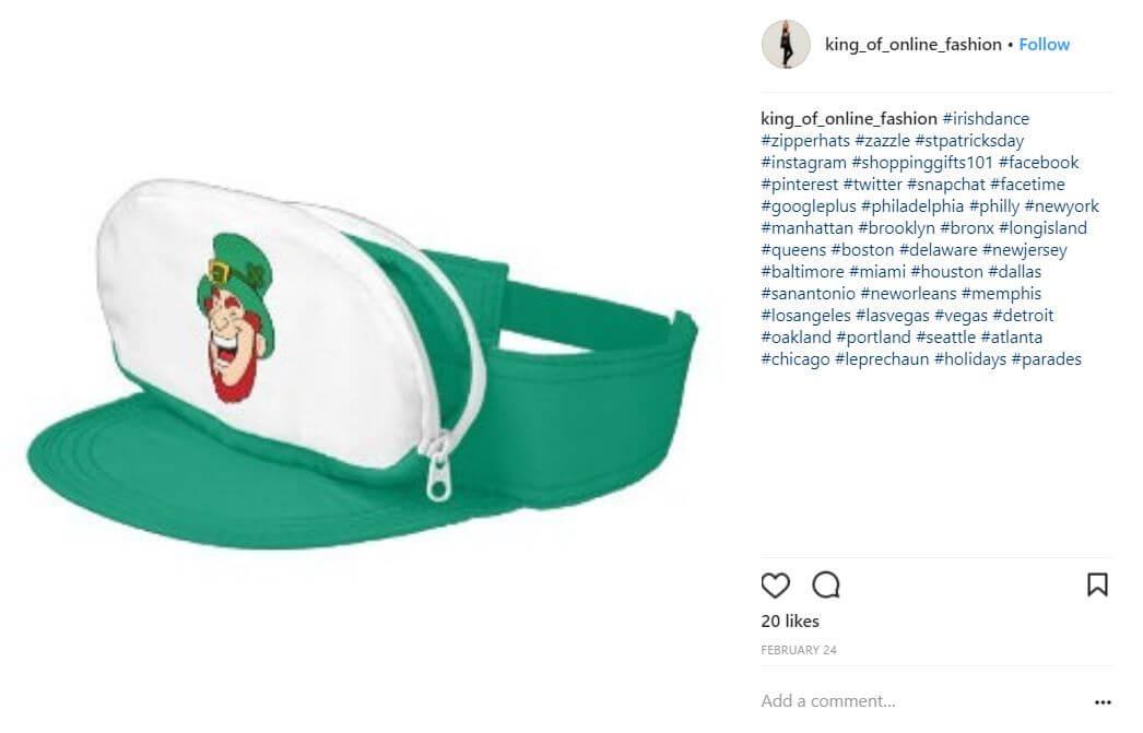 St. Patrick's Day Visor Pouch