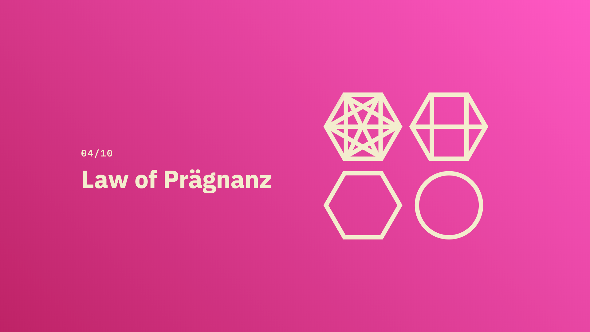 Law of Prägnanz - Source: lawsofux.com