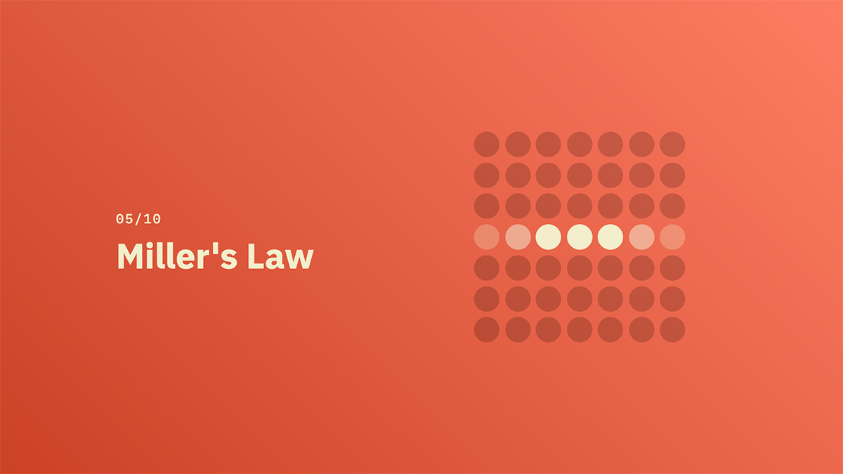 Miller's Law - Source: lawsofux.com