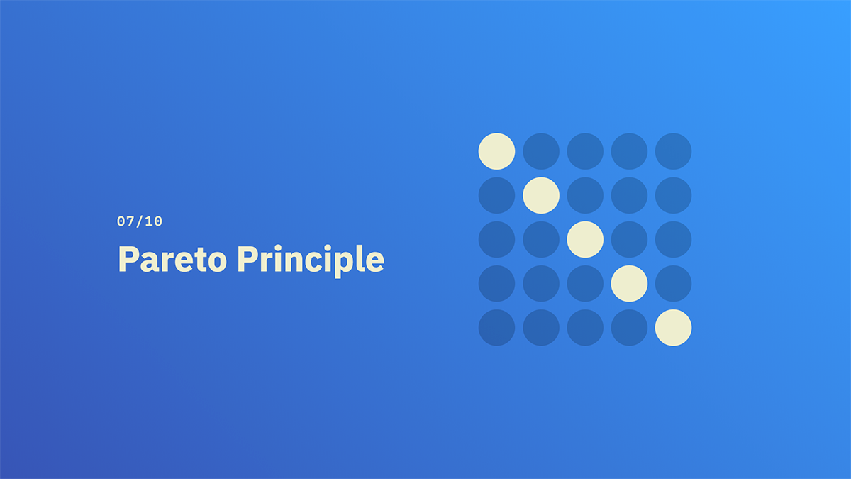 Pareto Principle - Source: lawsofux.com