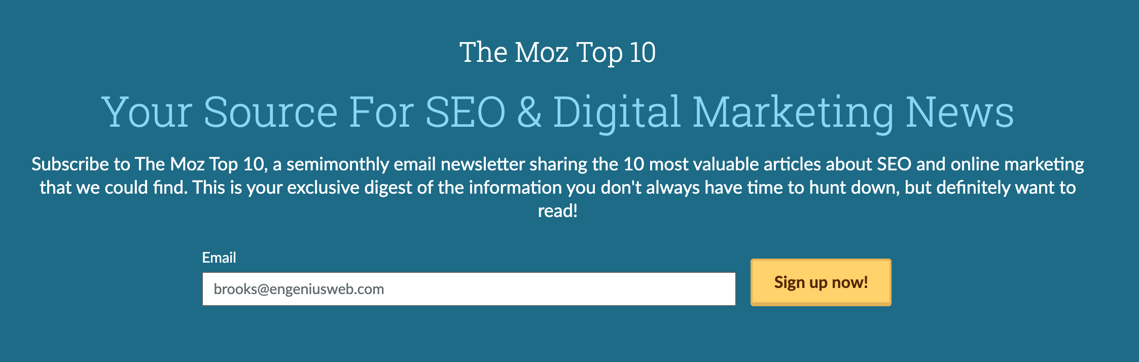 moz top ten newsletter