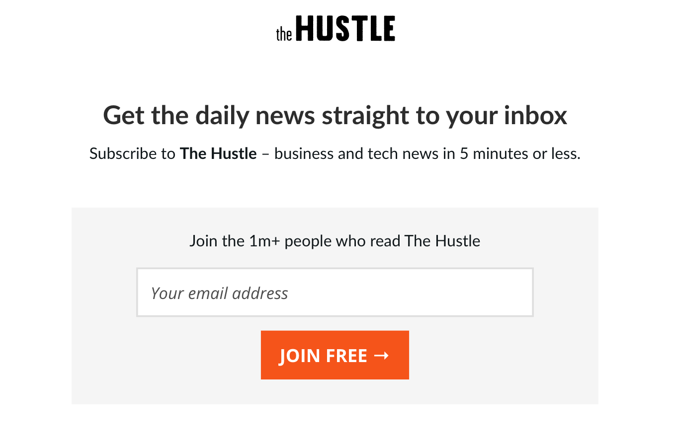 the hustle newsletter
