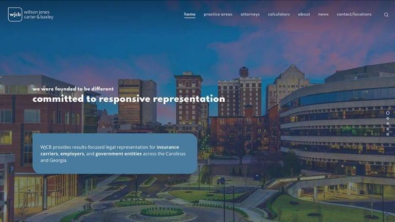 WJCB Law Homepage Screenshot