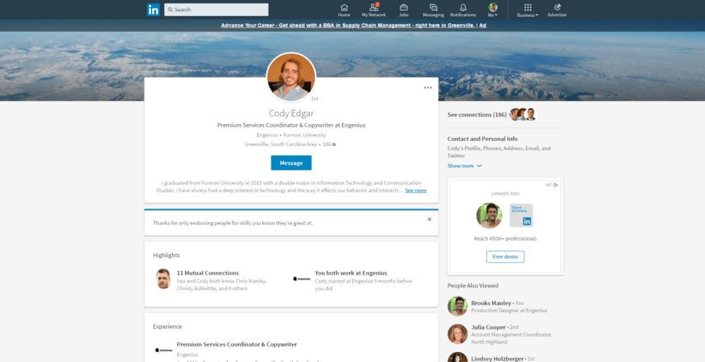 Personal LinkedIn profile tips