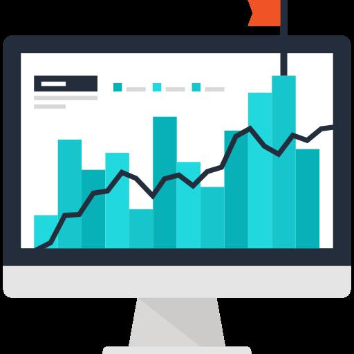 Bar graph showing steady increase