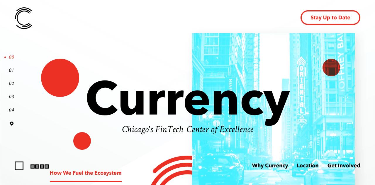 web design trends Currency hero image