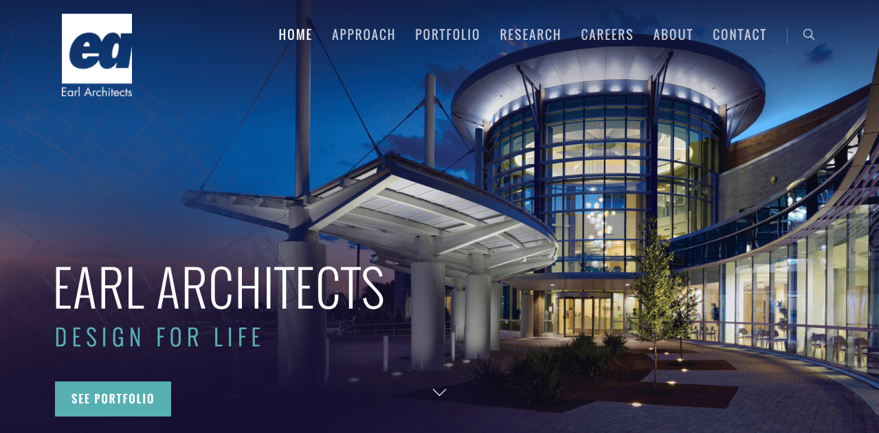 web design trends Earl Architects hero image