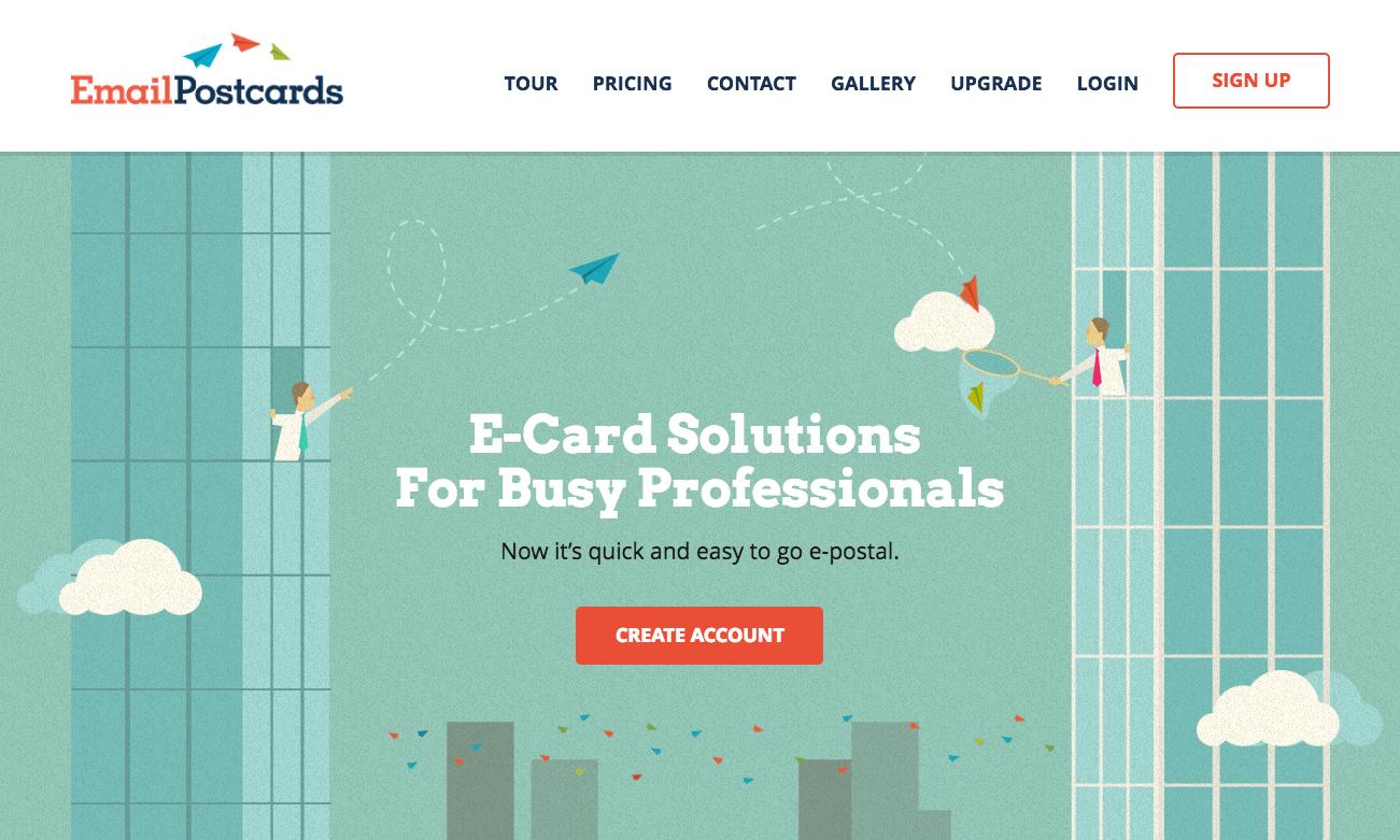 web design trends EmailPostcards illustration