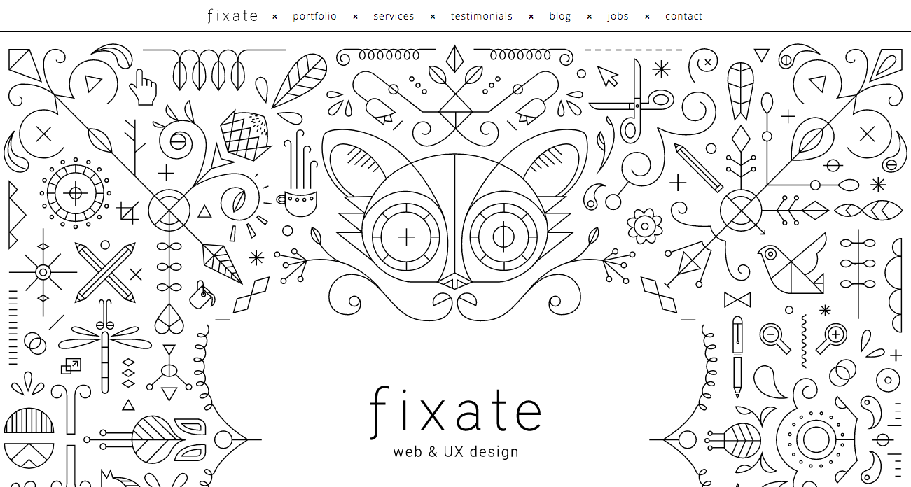 web design trends Fixate illustration