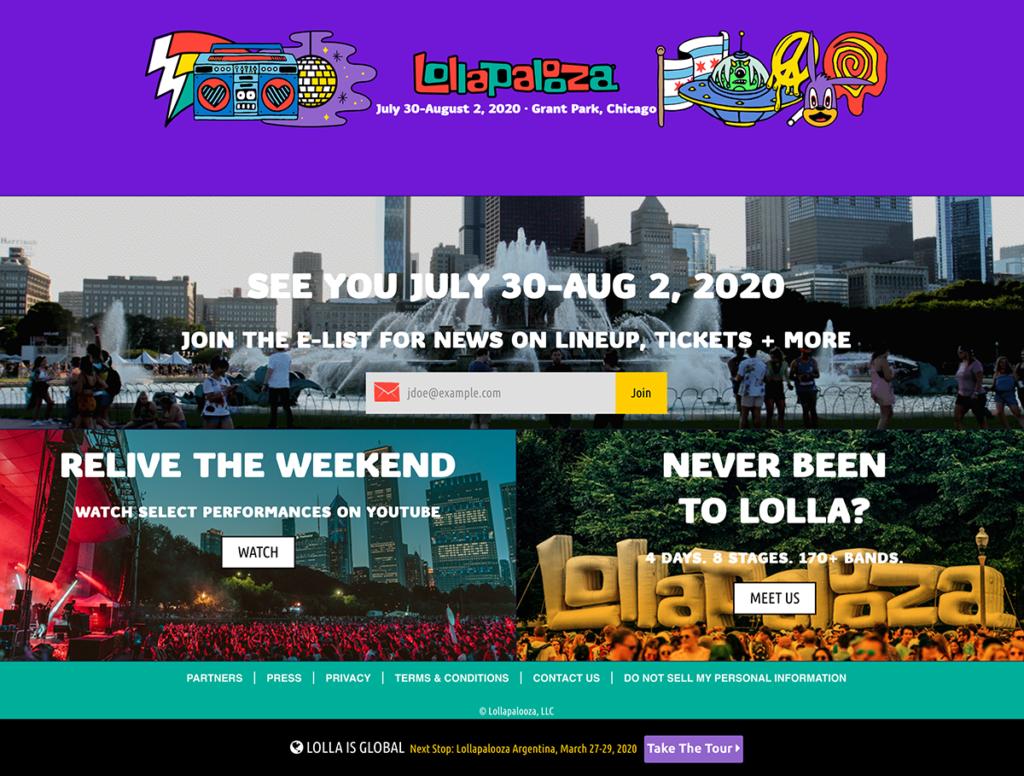 lollapalooza homepage