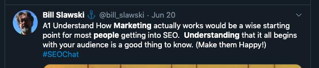 tweet about marketing