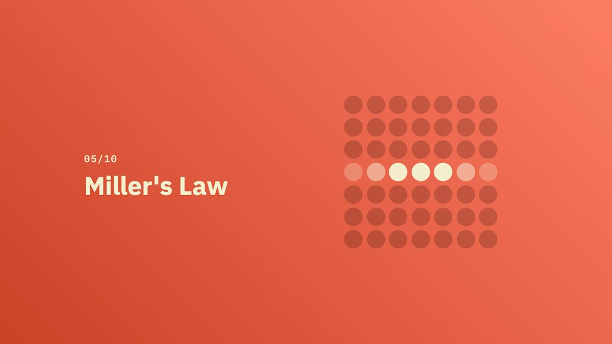 Miller's Law - Source: lawsofux.com