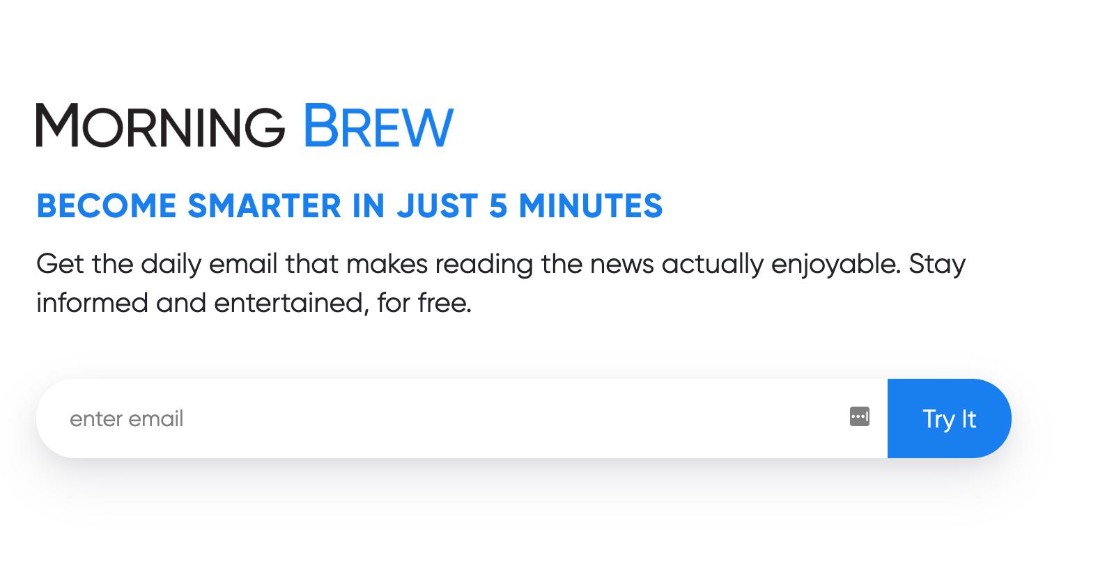 morning brew newsletter