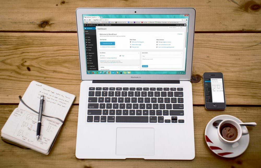 building a website with wordpress; the wordpress dashboard